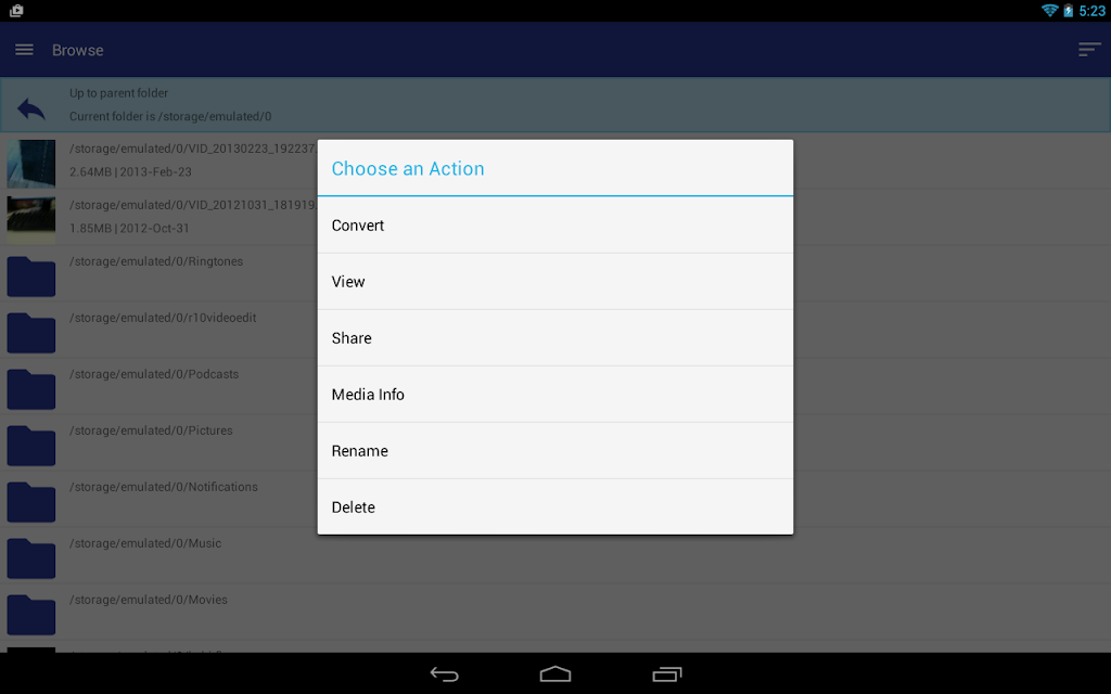 Video Converter Android 2 screenshots