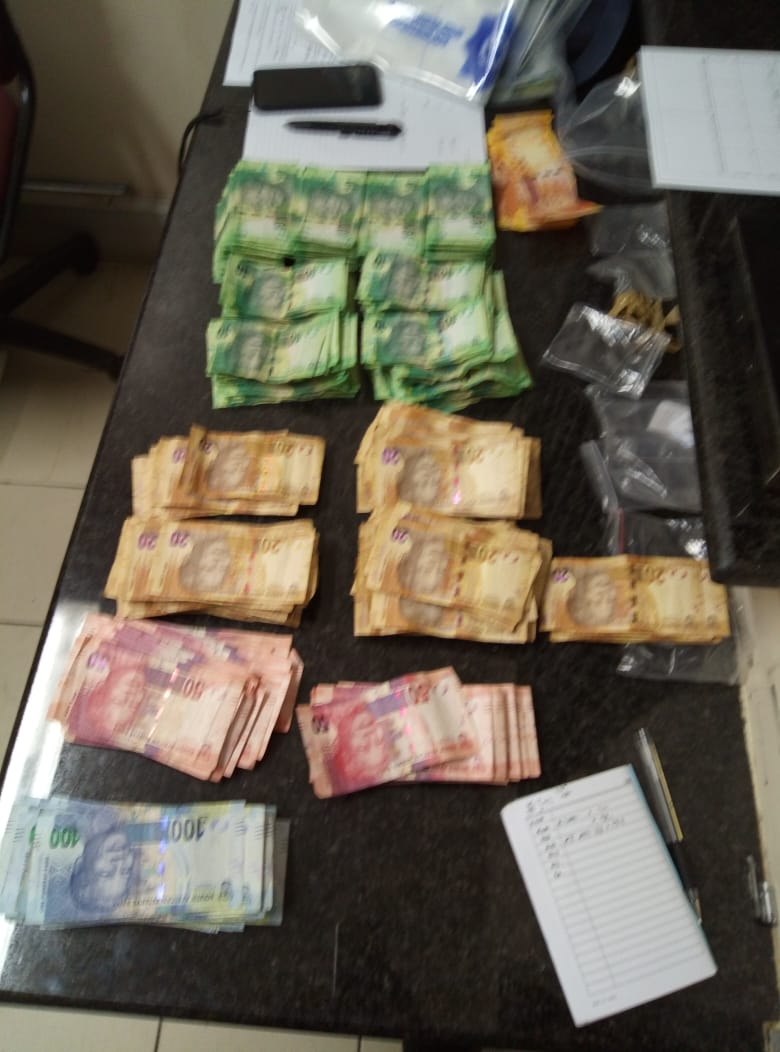 Money recovered at the house during the raid