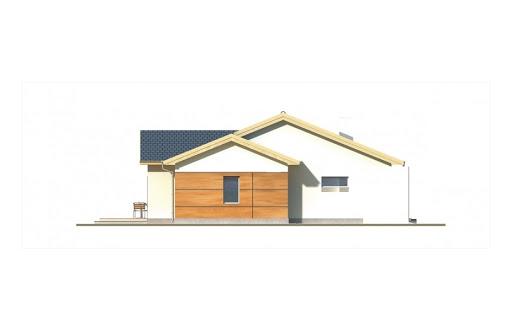 Agatka wersja B dach 32 stopnie - Elewacja lewa