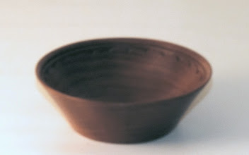 "Photo: Margaret Follas 4"" x 2"" bowl [cherry]"