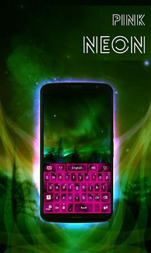 粉紅色霓虹燈鍵盤GO|玩個人化App免費|玩APPs