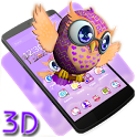 Cute Owl 3D Theme icon
