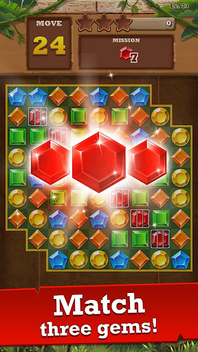 Jungle Gem Blast: Match 3 Jewel Crush Puzzles 4.0.2 screenshots 2