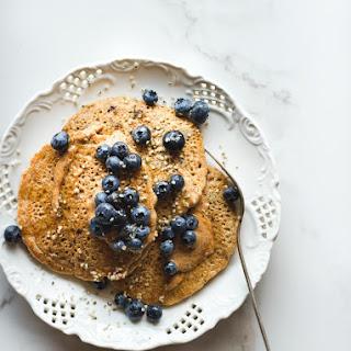 Almond Butter Power Pancakes.