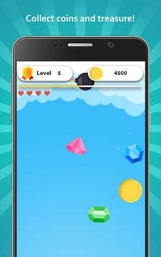 Falling Treasure - Collect coins and treasure  screenshots 1