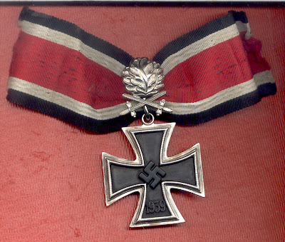 Knights Cross with Oakleaves and Crossed Swords Wound Badge in Black