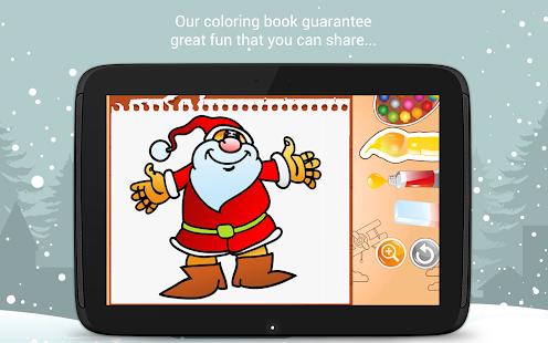 Christmas Coloring Book Santa Game For Kids Screenshot Thumbnail