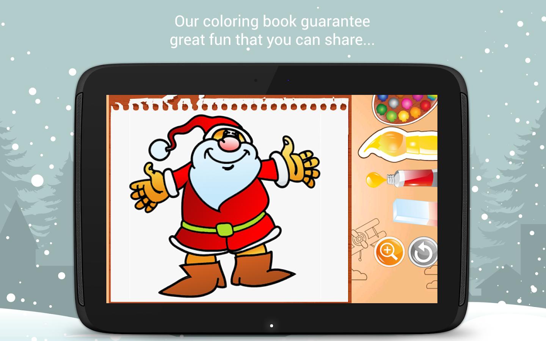 Fantastic fun book to color - Christmas Coloring Book Santa Game For Kids Screenshot