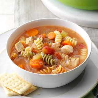 Curly Noodle Chicken Soup.