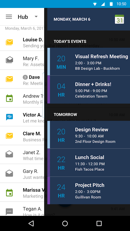 BlackBerry Productivity Tab- screenshot