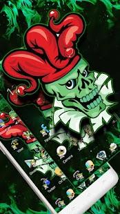 Green Joker Skull Theme - náhled