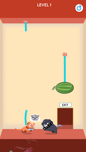 Rescue Kitten - Rope Puzzle apkmind screenshots 2