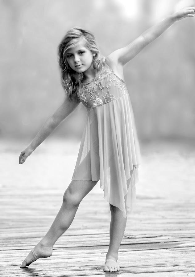 Little Dancer by Sylvester Fourroux - Black & White Portraits & People