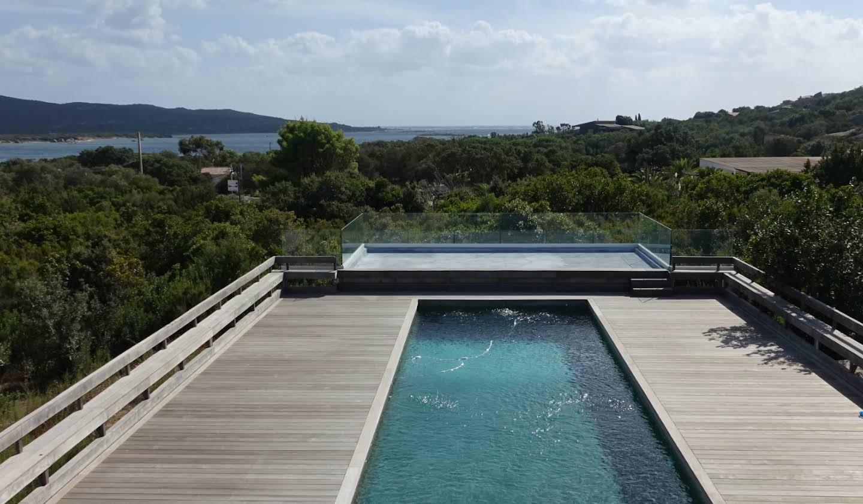 Propriété avec piscine en bord de mer Pianottoli-Caldarello