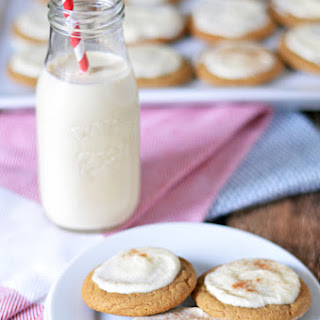Soft & Chewy Ginger Cookies with Eggnog Frosting