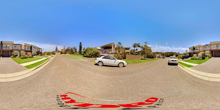 Photo: Street View - Executive Townhouses & Luxury Ocean Townhouse - Wesley Avenue - Lower end looking up towards Dixon Avenue www.escapeatnobbys.com.au