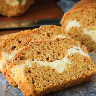 Cream Cheese Filled Carrot Bread.