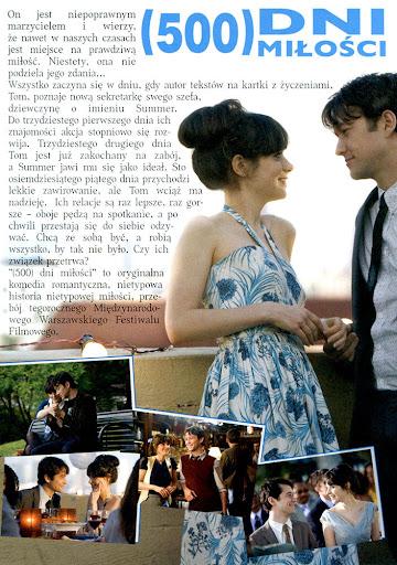 Tył ulotki filmu '(500) Dni Miłości'