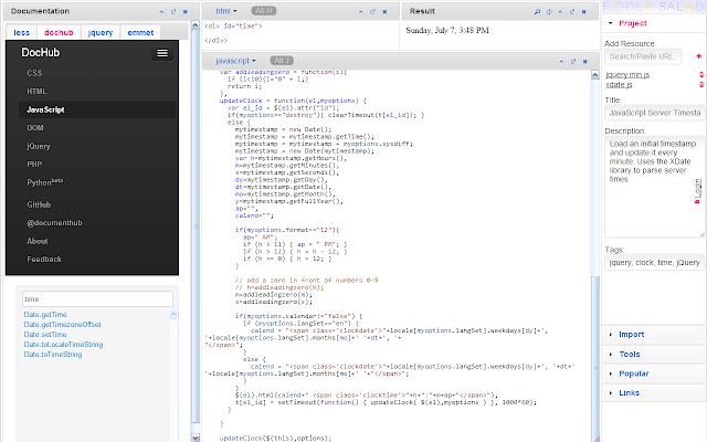 JavaScript Editor