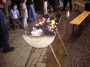Photo: Die Glut ist bald bereit zum Grillieren