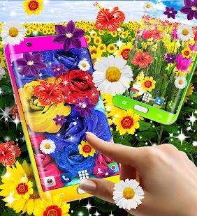 Summer flowers live wallpaper - náhled