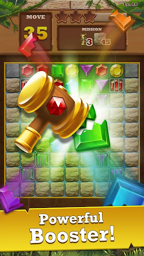 Jungle Gem Blast: Match 3 Jewel Crush Puzzles 4.2.5 screenshots 5
