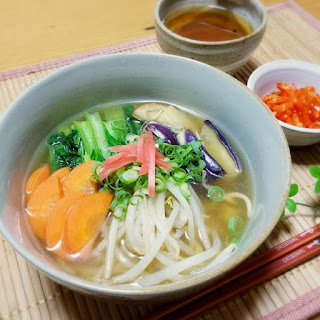 Healthy Vegetable-Rich Ramen Made with Konjac Noodles