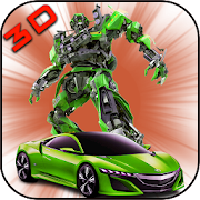 Muscle Robot Car transform-Real Transformation