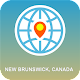 New Brunswick,  Canada Map