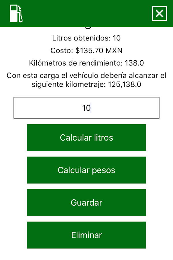 GasolinAPP: captura de pantalla