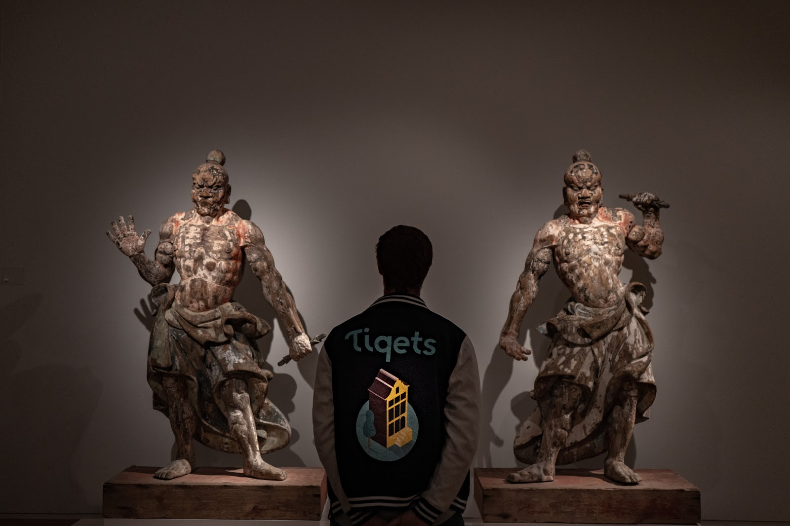 The temple guardians in the Rijksmuseum's Asian Pavilion, gorgeous hidden gems that are thousands of years old.