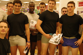 Photo: The guys were so nice. They even posed for us when we asked them. Wow... that's some hot underwear.