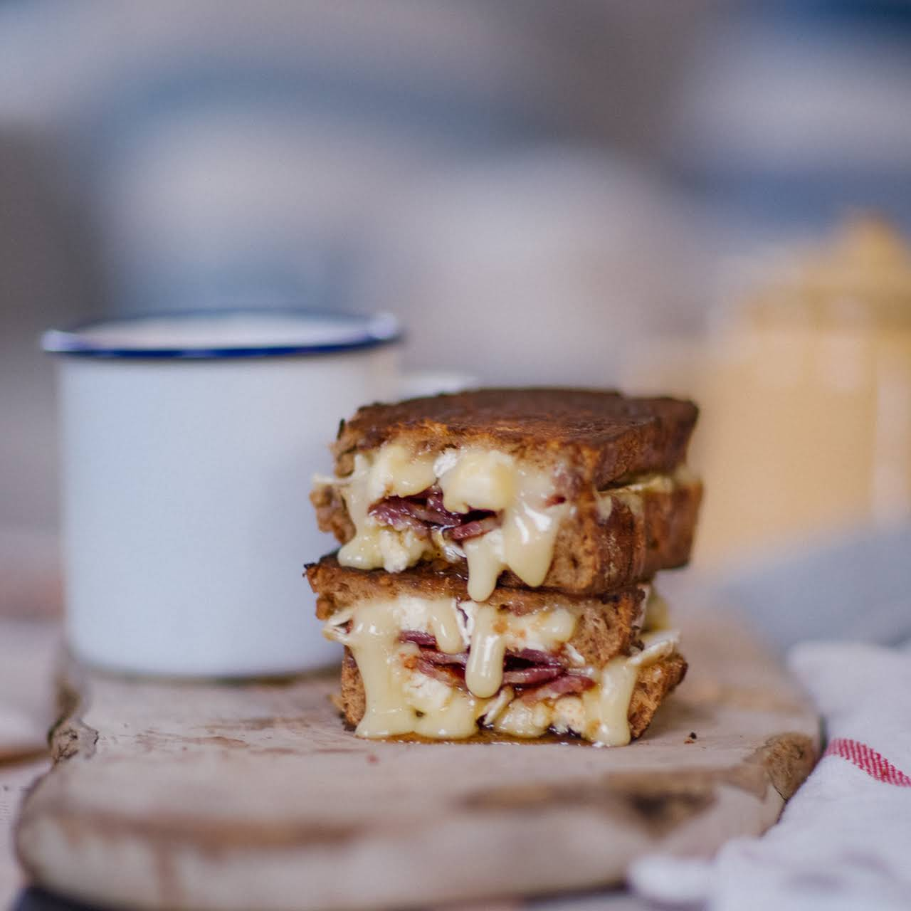 Brie & Bacon Brown Bread Melt