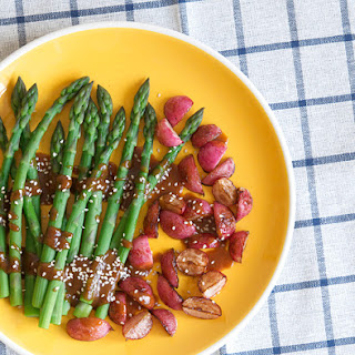Asparagus and Radishes with Sesame-Miso Dressing