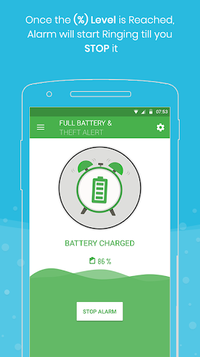 Full Battery Charge Alarm and Theft Security Alert 2.7 screenshots 5