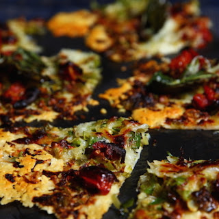 All Cheese Pizza With Piave Vecchio And Brussels Sprouts