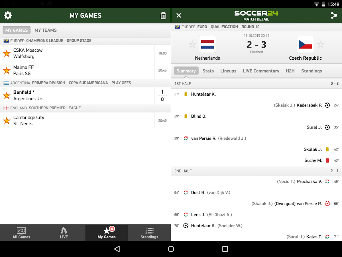 Futbol24 Android Apps On Google Play - Soccer 24 soccer live scores screenshot