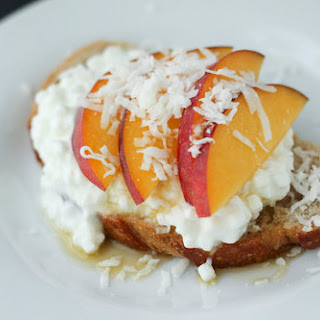 Sourdough Bread Topped with Peaches