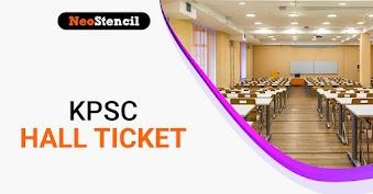 KPSC Hall Ticket 2020