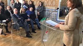 Carmen Crespo en su primera rueda de prensa como consejera de Agricultura.