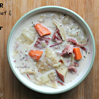 Leftover Corned Beef and Cabbage Chowder