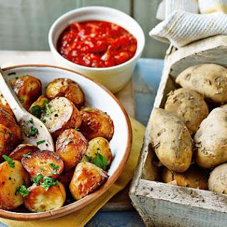 Jersey Royal patatas bravas.
