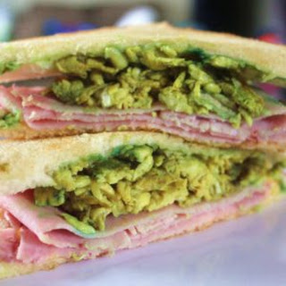 Green Eggs and Ham on Toasted Bread - a Fun Lunch Idea for Kids Recipe