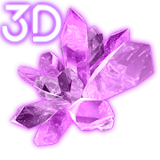 Shiny Crystals Parallax 3D Live Wallpaper