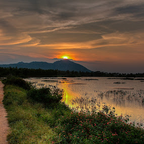 Another Sunset by Vamsi Korabathina - Landscapes Sunsets & Sunrises