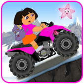 Little Dora Atv Hill Race - mountain climbing game