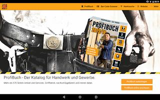 Screenshot of HORNBACH ProfiBuch