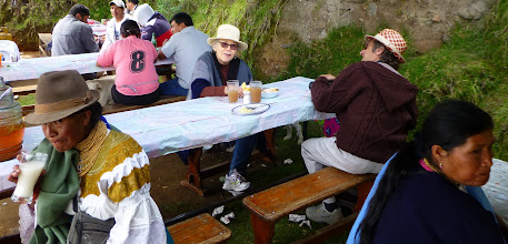 Photo: Sheila, Andy in breakfast tent