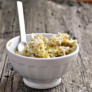 Brussels Sprout Sauerkraut