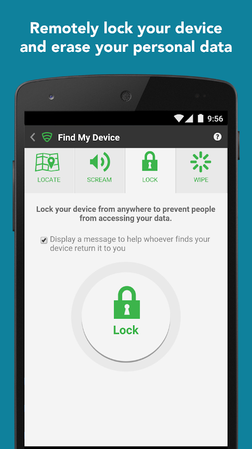 Screenshots of Lookout Security & Antivirus for iPhone
